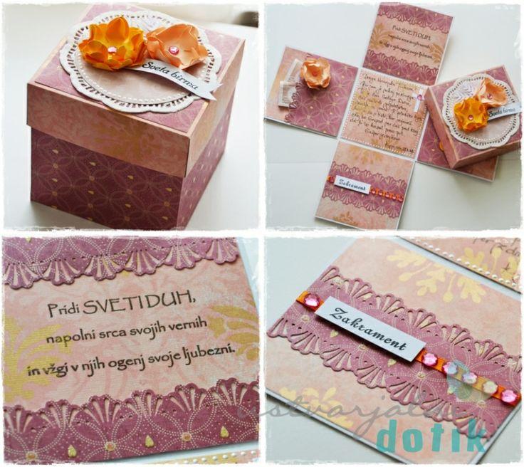 darilna skatlica za birmo [ustvarjalni blog], exploding box