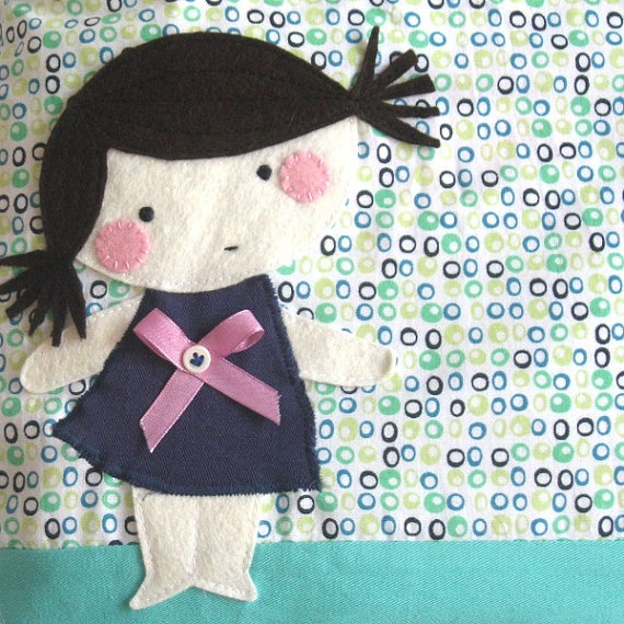 Lovely applique girl