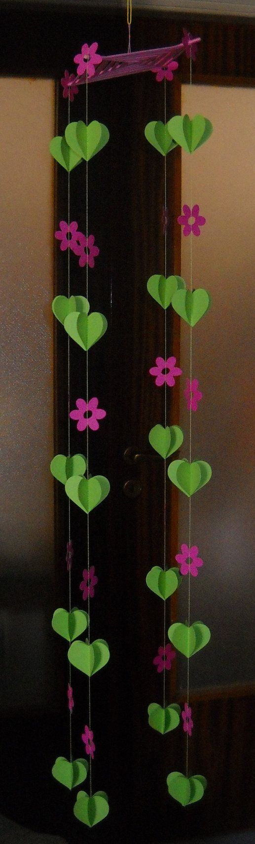 New - 3D Paper Mobile-Garland - Cyclamen - Birthday Party Garland, Baby shower garland, Nursery garland, Colorful garland, Kids garland