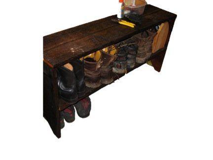 Custom Barnwood Entryway Shoe Bench Rustic Reclaim —