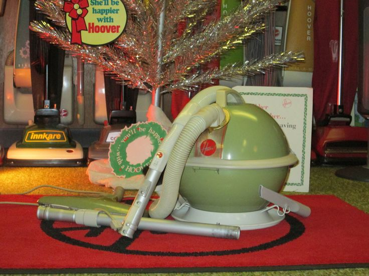 This image was shared to our Facebook wall by Tom Anderson. He decorated his home with his Model 87 Hoover Constellation with an electric hose. It debuted in 1959 in the colors of Garland Green and White.