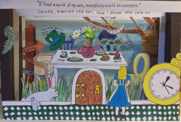 Alice In Wonderland Book Report Ideas : Best images about tunnel books on pinterest accordion