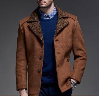 Mens Fur Collar Coat