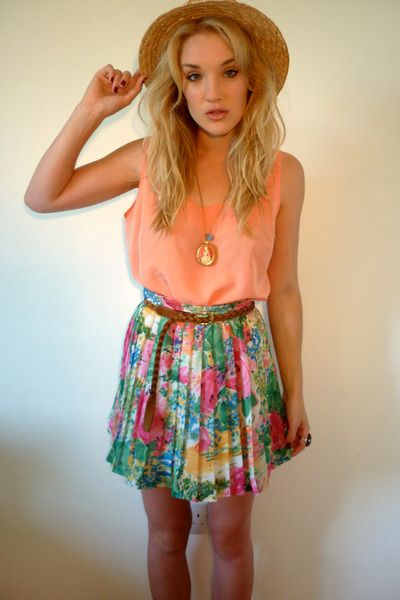 Floral skirt and flowy top