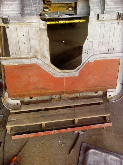 Replacing rear floor and carrier box