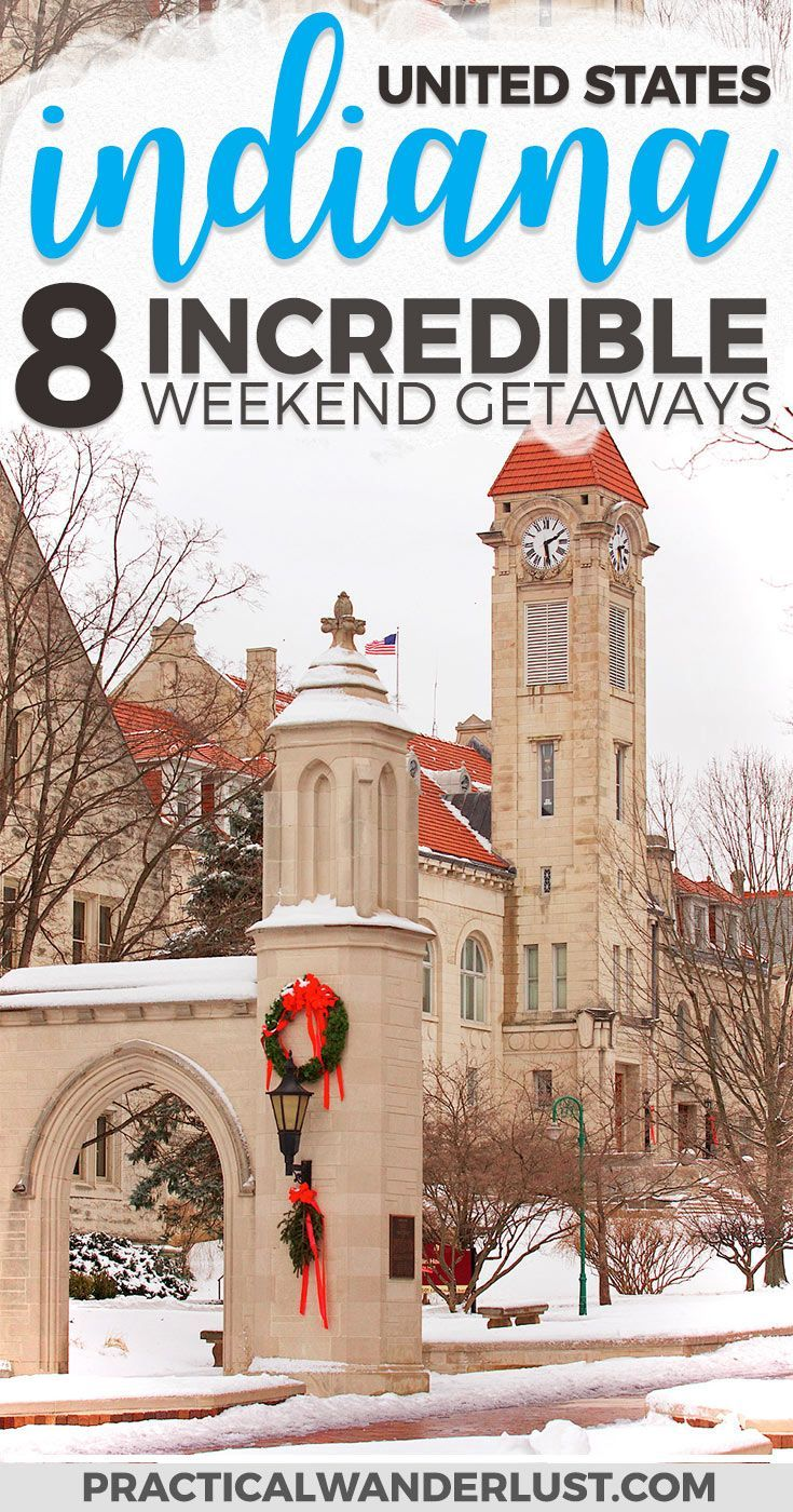 8 of the best weekend getaways in Indiana, from an Indiana University graduate (GO HOOSIERS)! Indiana is full of surprising weekend trips. Indianapolis Indiana | Indiana Travel | Indiana Things to Do In | Indiana Places to Visit | Indiana Weekend Trips | Madison Indiana | Bloomington Indiana | Midwest Vacations | United States Travel | Midwest Travel