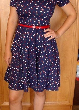 Kup mój przedmiot na #vintedpl http://www.vinted.pl/damska-odziez/krotkie-sukienki/10470571-sukienka-w-grochy-rozkloszowana-hm-w-stylu-pin-up