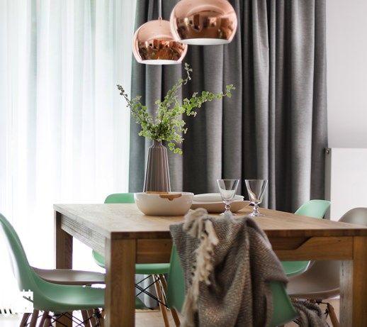 apartament nad Wisłą w Krakowie - Jadalnia, styl skandynawski - zdjęcie od…