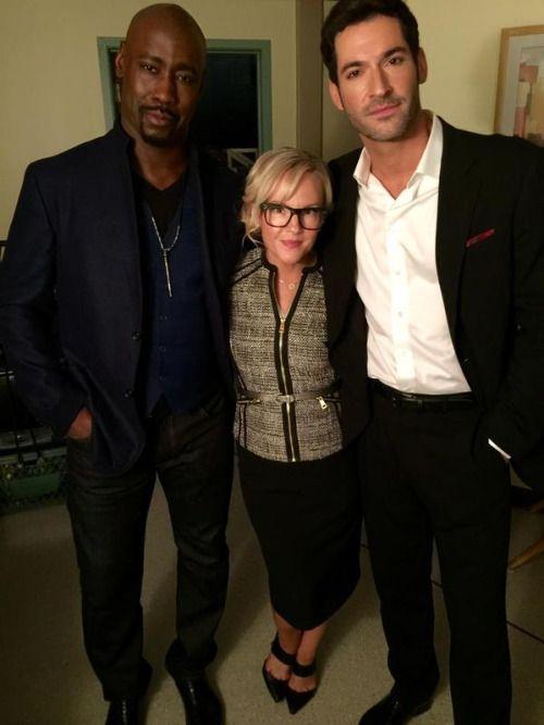 DB Woodside, Rachael Harris and Tom Ellis on Lucifer