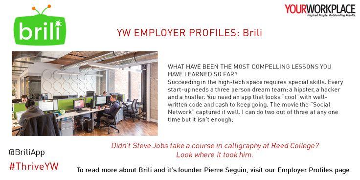 Profiling unique and progressive Canadian organizations every issue: BRILI. For…
