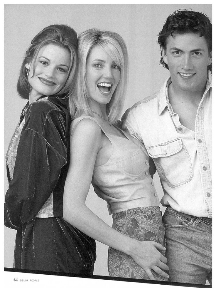 People magazine, Feb. 21, 1994 — Laura Leighton, Heather Locklear & Andrew Shue in Melrose Place (1992-99, Fox)