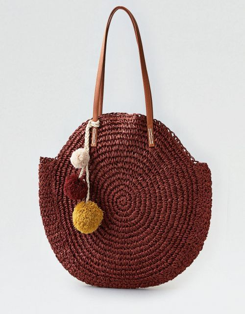 e29e0567 AEO STRAW TOTE BAG | Handbags | Straw tote, Basket bag, Bags