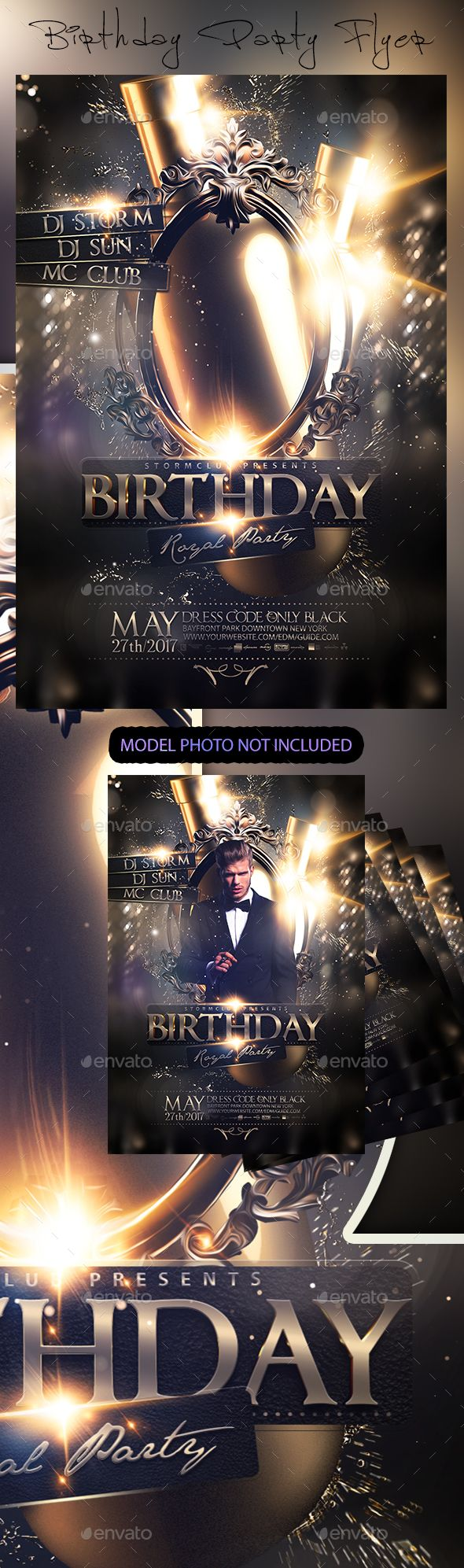 D d poster design - Birthday Party Flyer Template Psd Download Here