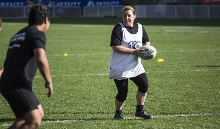 One of our lucky competition winners training with the @nzwarriors