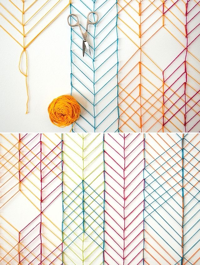 """""""Knit"""" // This isn't exactly """"knit"""" but I love this knit-stitch inspired wall design created by Evelin Kasikov."""