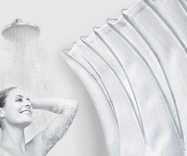 Shower Curtain Space Extender - https://tiwib.co/shower-curtain-space-extender/ #Bathroom #gifts #giftideas #2017giftideas #xmas