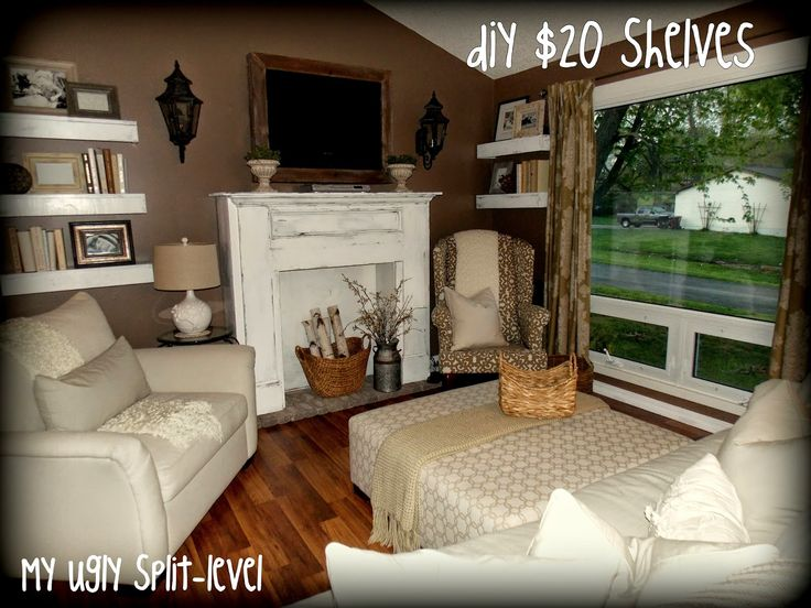 My ugly split level furniture layout living room for Split entry living room decorating ideas