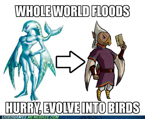 video game memes - Zelda Evolution. I don't get this, I understand it was for the plot, but what the heck nintendo?
