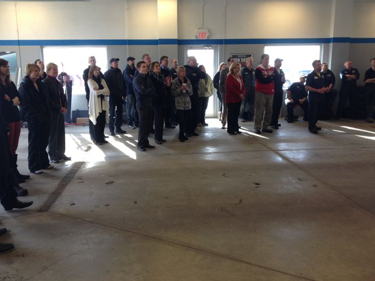Davis Chevrolet employee of the month announcement at the monthly staff BBQ #bbq #airdrie #yyc #alberta #staff