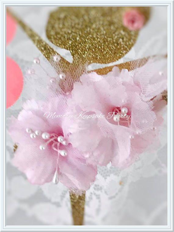 Bailarina pastel Topper  decoraciones de fiesta de bailarina