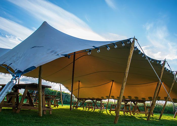 We have decided to join forces with our sister company Igloo Structures so we can offer unique tent hire as well as quality bell tents. The first addition to our rental fleet is the Stretch Tent. The stretch tent measures 10x10m and has a capacity of approx 80-100 standing or 40-60 seated. Email steve@coolcanvastentcompany.co.uk for more details