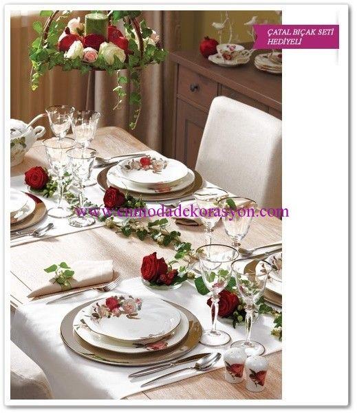 Bernardo Rose Garden Yemek Takımı-1.999 TL