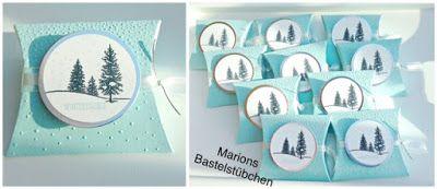 Marions Bastelstübchen: Winterliche Pillow Box