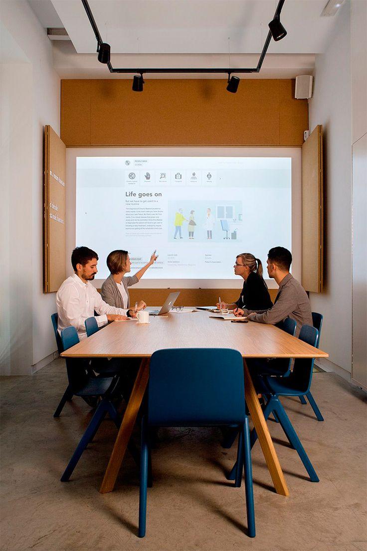 M s de 25 ideas incre bles sobre oficinas modernas en for Sala de estar oficina