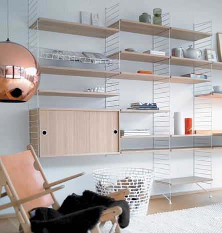 Minimalist Scandinavian Shelves and Cabinets System That Attracts Attention for 60 Years | DigsDigs