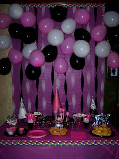 Pink And Black Party Decorations Idea Decoration For Home
