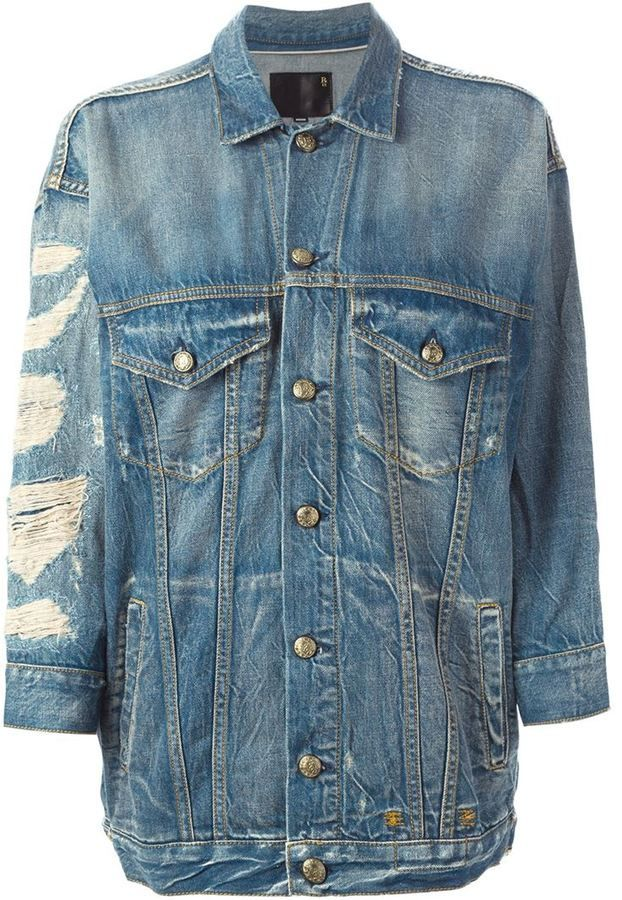 R13 oversized denim jacket