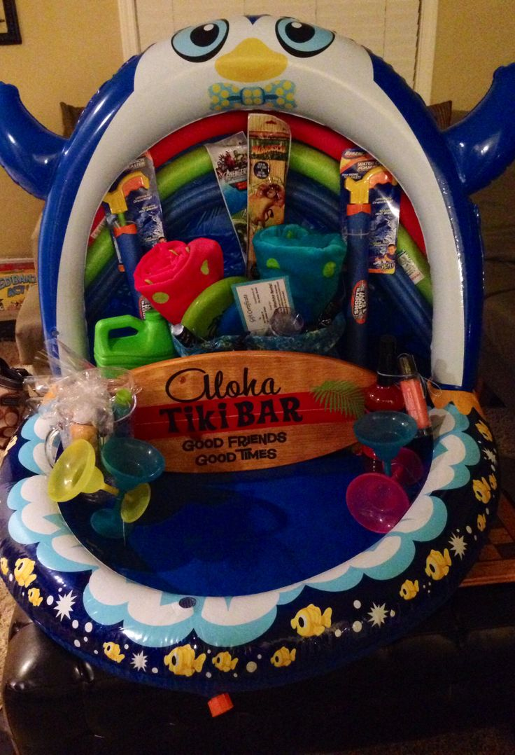 Fun In The Sun Basket For A Gift Or Silent Auction Use