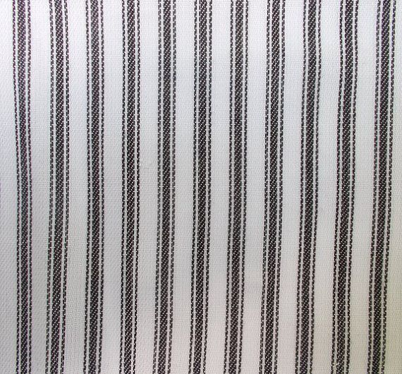 56 Inch Wide Yarn Dyed Cotton Black And White Ticking