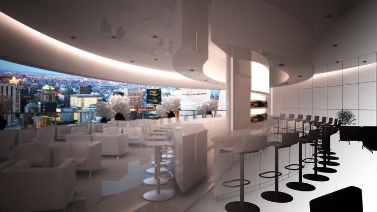Criar diferentes ambientes de um hotel altamente sofisticado para ilustrar ambientes musicais distintos de uma radio online.   - Lounge Bar