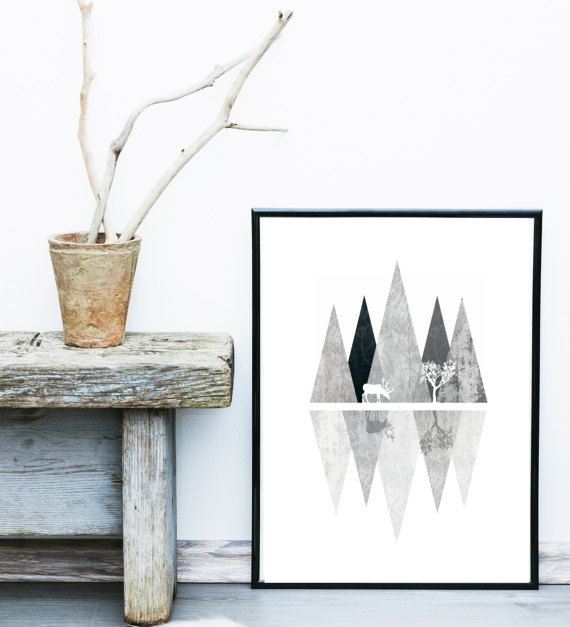 Abstract Landscape Print Geometric Art Printable by exileprints