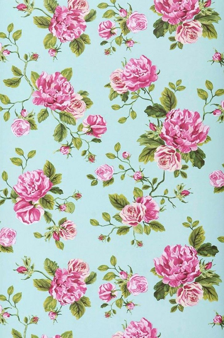 Isabelle Vintage WallpapersFloral WallpapersIphone WallpapersTurquoise PatternPattern