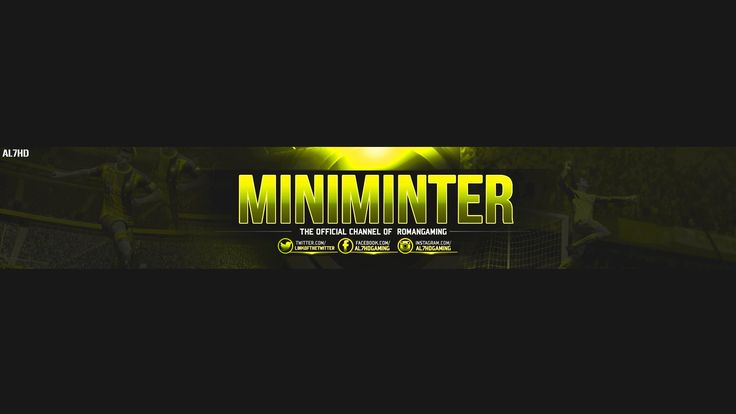 free gfx gaming youtube banner template free psd file miniminter7 templates pinterest. Black Bedroom Furniture Sets. Home Design Ideas