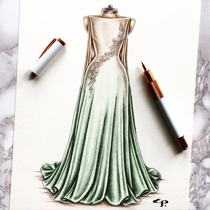 Easy and nice dress drawing fashiondesign fashiondeawing