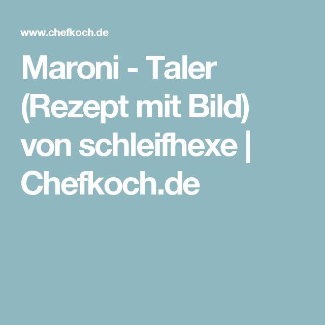 Maroni - Taler (Rezept mit Bild) von schleifhexe | Chefkoch.de