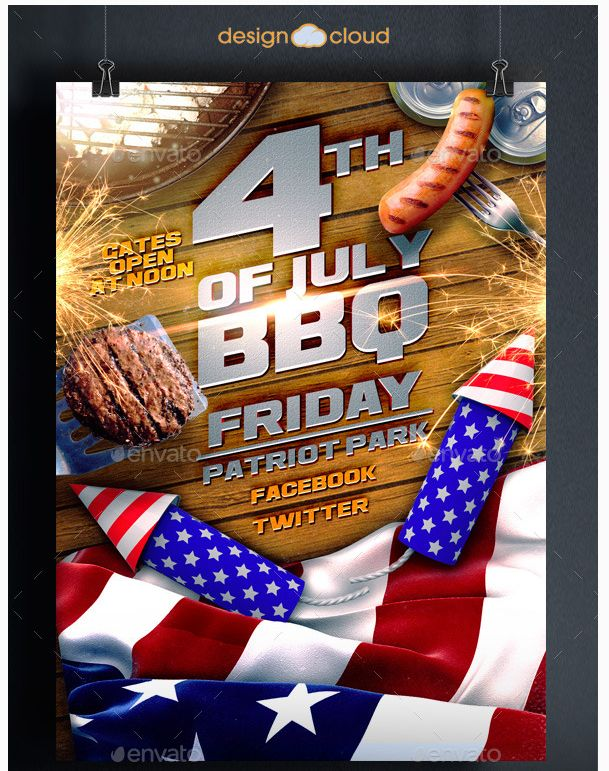 25 best July 4th Flyer Template images on Pinterest Flyer - bbq flyer