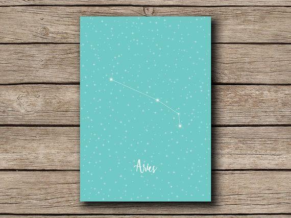 Aries  Printable Zodiac / Horoscope by shopmarigoldlane on Etsy