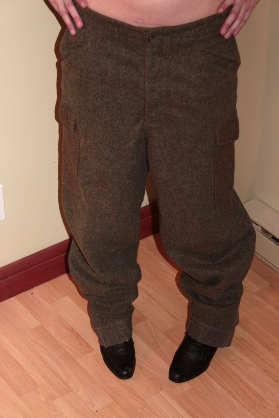 1941 Collectable Swedish Wool Military Pants by StarfishandRose