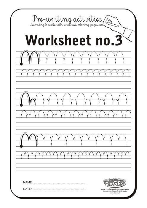 Pre-writing activities - Worksheet // actividades de preescritura  #trace #prewriting