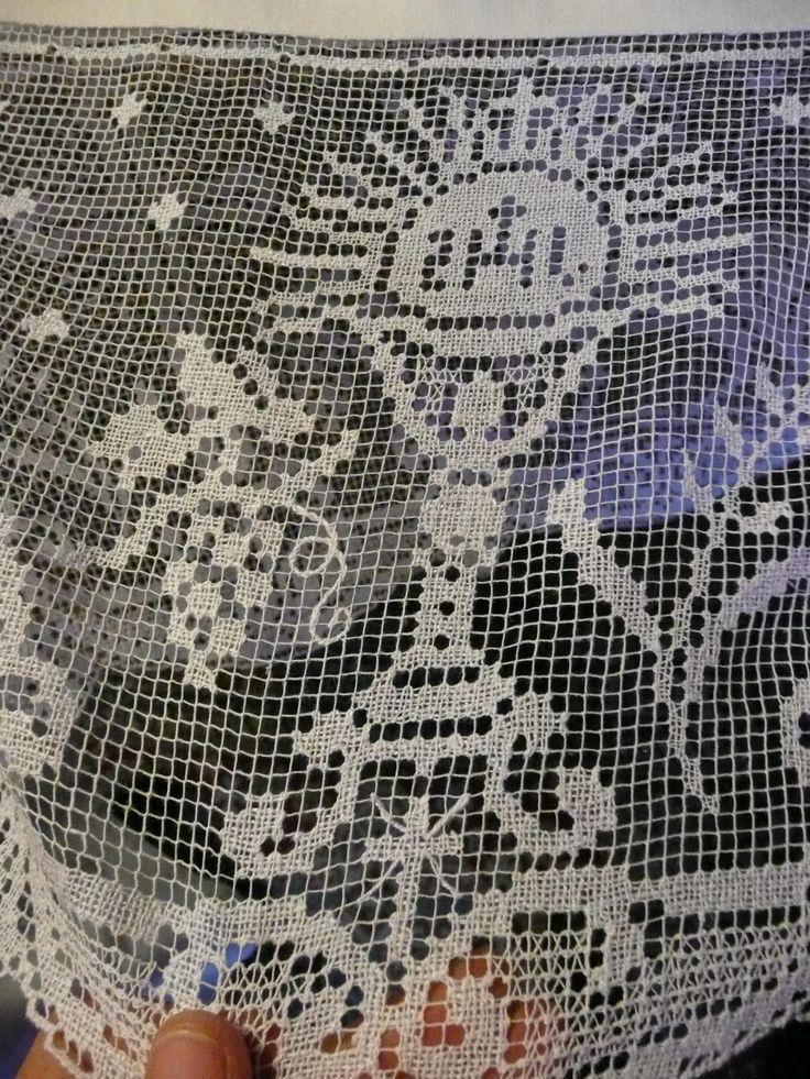 Lujoso Los Patrones De Crochet Filet Religiosa Embellecimiento ...