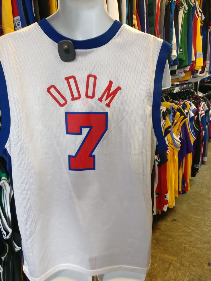 233c7badcdd ... Vintage 7 LAMAR ODOM Los Angeles Clippers NBA Champion Jersey 40 ...