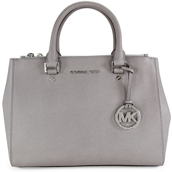 Michael Kors Sutton Satchel - Pearl Grey found on Polyvore
