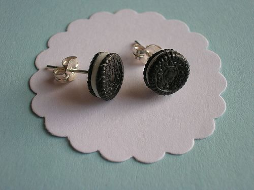 Oreo earrings! I want to eat these.....