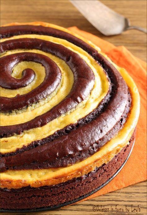 Gâteau spirale au chocolat (cacao) et crème pâtissière à la vanille - Torta spirale, ricetta facile ma risultato impressionante: blog Dulcisss in forno