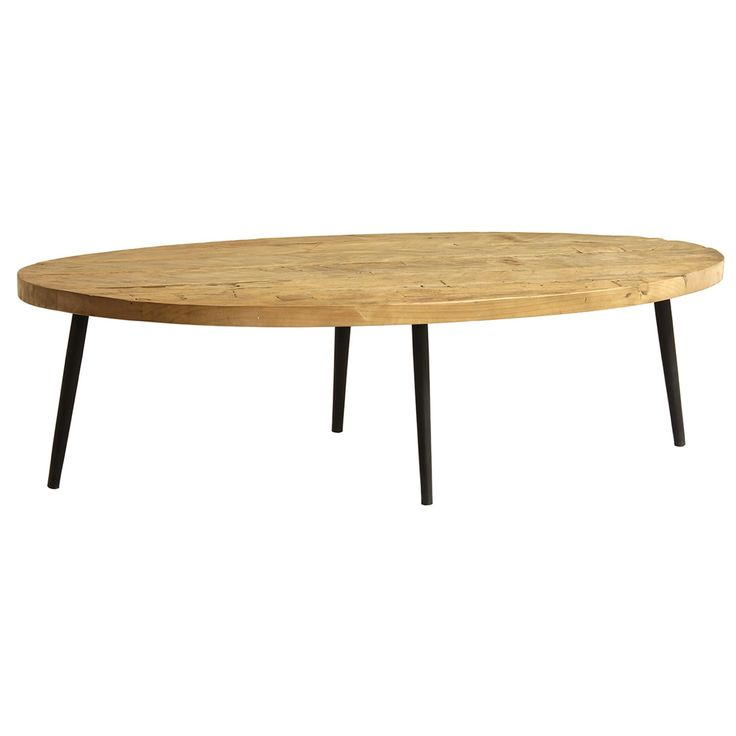 The Julio Coffee Table by Dovetail is part an eclectic range of handmade furniture, accessories and textiles.  Reclaimed wood top, natural Wooden legs in black finish