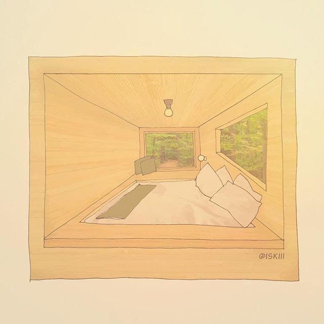 getaway house 🌳🌳 ❑ art by https://www.instagram.com/iskiii/